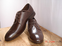 A Party wear Genuine leather 3 eyelet shoes for men's
