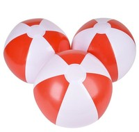 "16"" RED & WHITE BEACH BALL"