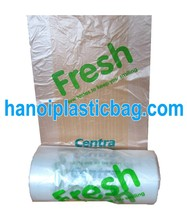 Food grade clear PE freshness protection package /food plastic bag on roll