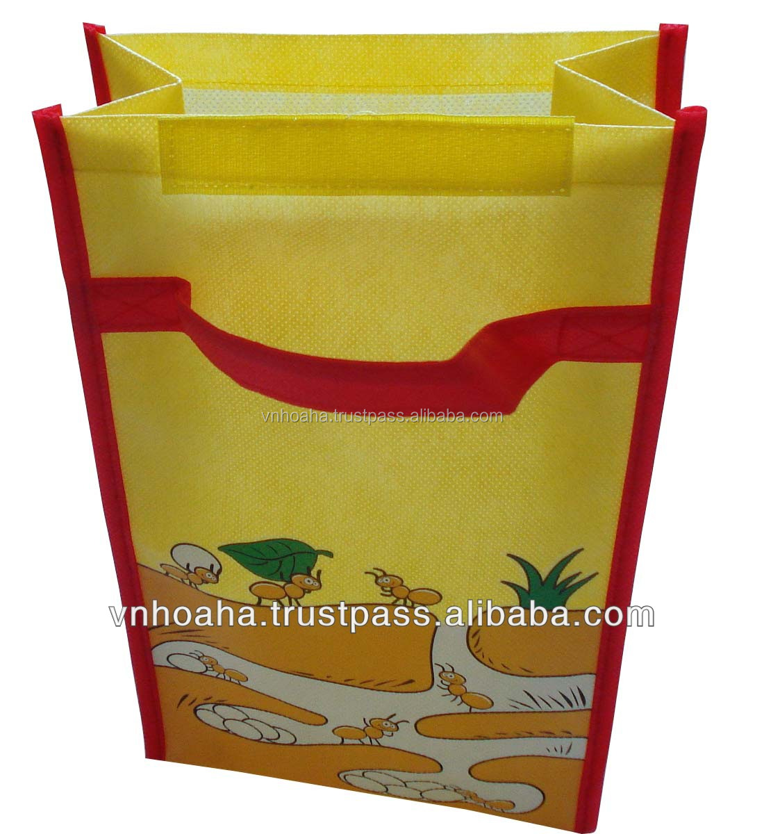 Vietnam laminated non woven wine bag, shopping bag non woven