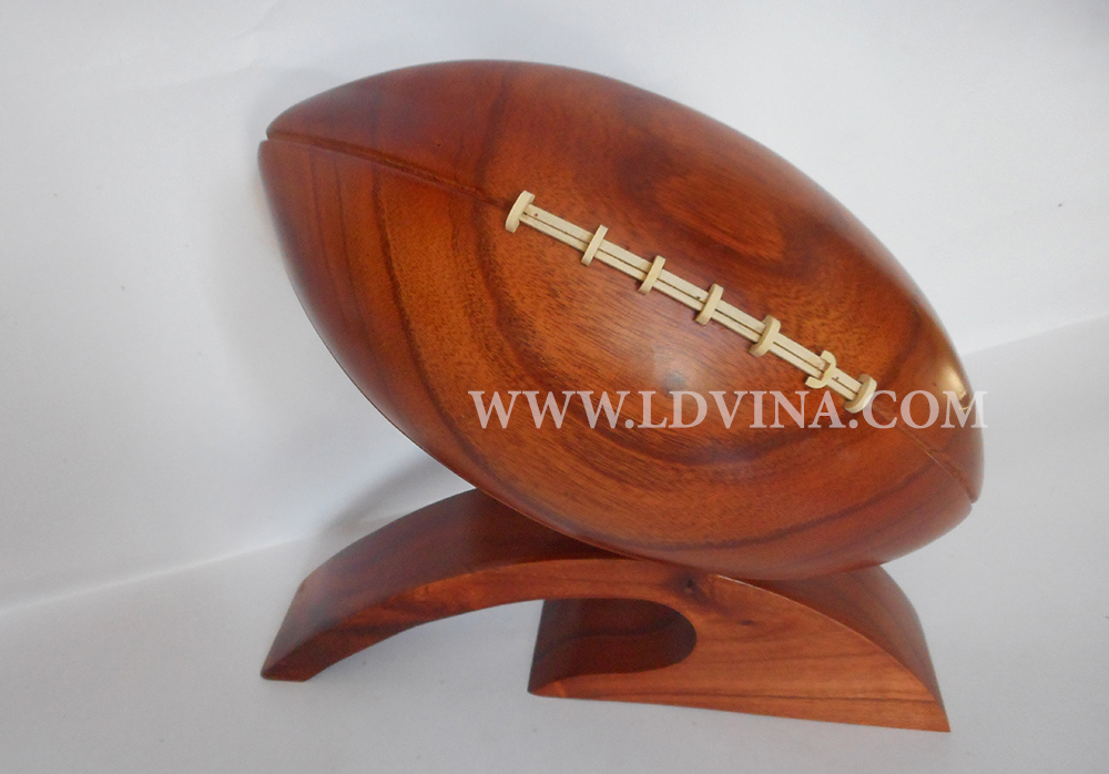 WOODEN RUGBY FOOTBALL