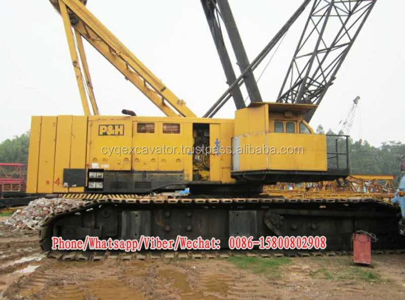 Used kobelco 300tons model P&H 5300A crawler crane for hoe sale! (0086-15800802908)