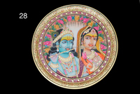 Antique Marble Framed Hand Carwing Work Of Lord Krishna Beautiful Stone Handicraft Plate