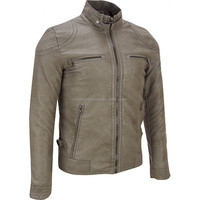 hot sale fashion leather jackets made of cow hide leather