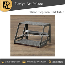 Standard Quality Three Step Iron End Table at Discounted Rate