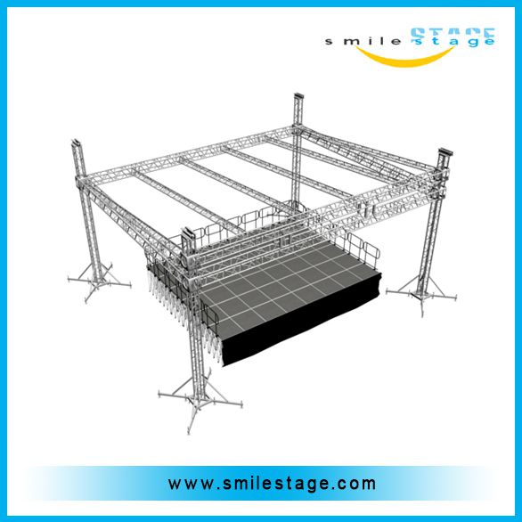 pitched roof truss display stage truss system