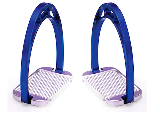 Horse Riding Stirrups Blue Coloured Aluminum with Rubber