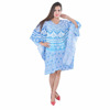 Indian Sky Blue Ombre Kaftan Mandala