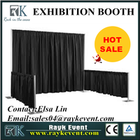 High quality luxury trade show booth/exhibition booth/used pipe and drape for sale
