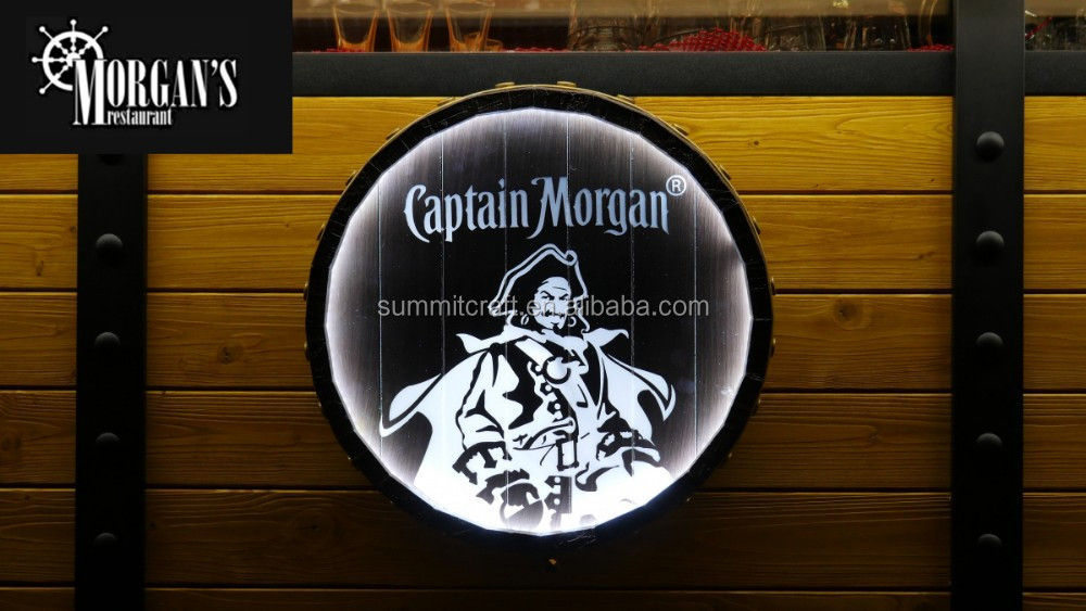 Custom round barrel LED wall sign illuminated sign