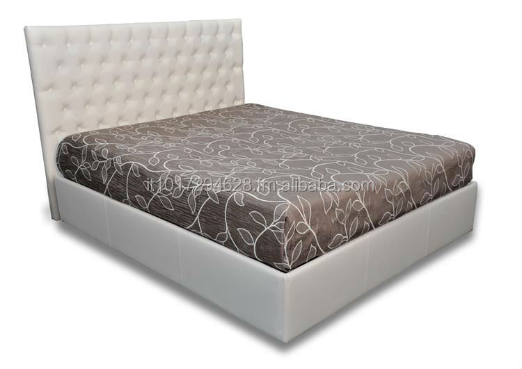 Padded bed CAPITONNE' RECTANGULAR made in Italy high quality
