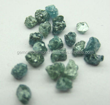 Cheap Price Natural Greenish Blue Rough Diamonds Beads Lot