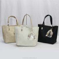 wholesale plastic bag for ladies hot selling cute tote sling PU leather handbag
