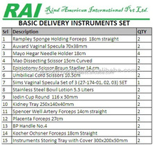 Surgical Gynecology Instruments Basic Delivery Set