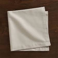 organic cotton plain napkin white