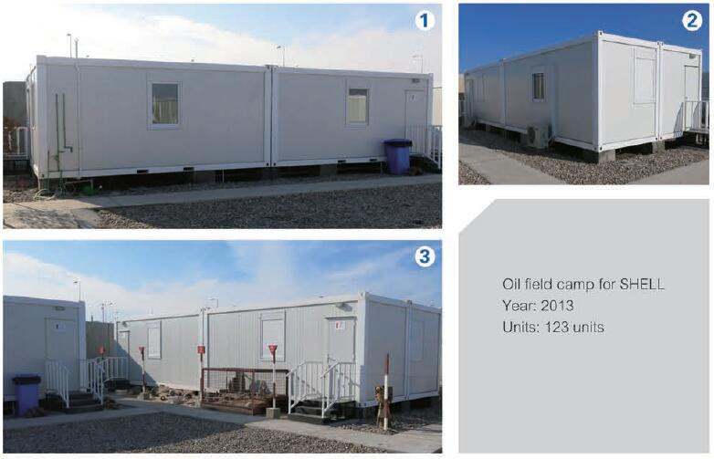Bungalow prefabricated with cabin containers