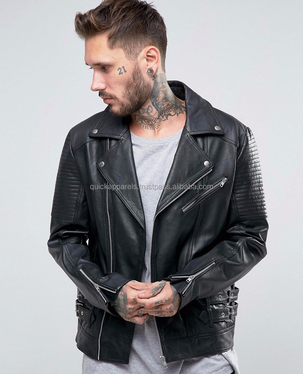 Fashion high quality cheap leather motorcycle jacket Cheap custom Wholesale high quality men fashion jackets