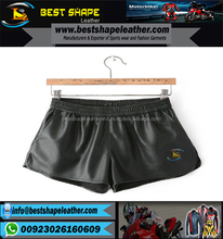 Wholesale Leather Sexy Denim Mini Shorts men Tight Jeans Short Skin Tight Leather Shorts