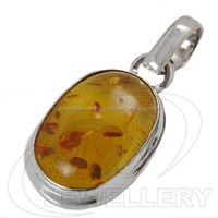 Amber wholesale 925 silver pendant