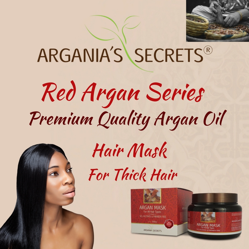 Premium Quality Argan Oil Argania's Secrets Series Mask Treatment For Thick Hair