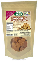 200g COCONUT TORTILLA CHIPS with coconut nectar 100% Natural