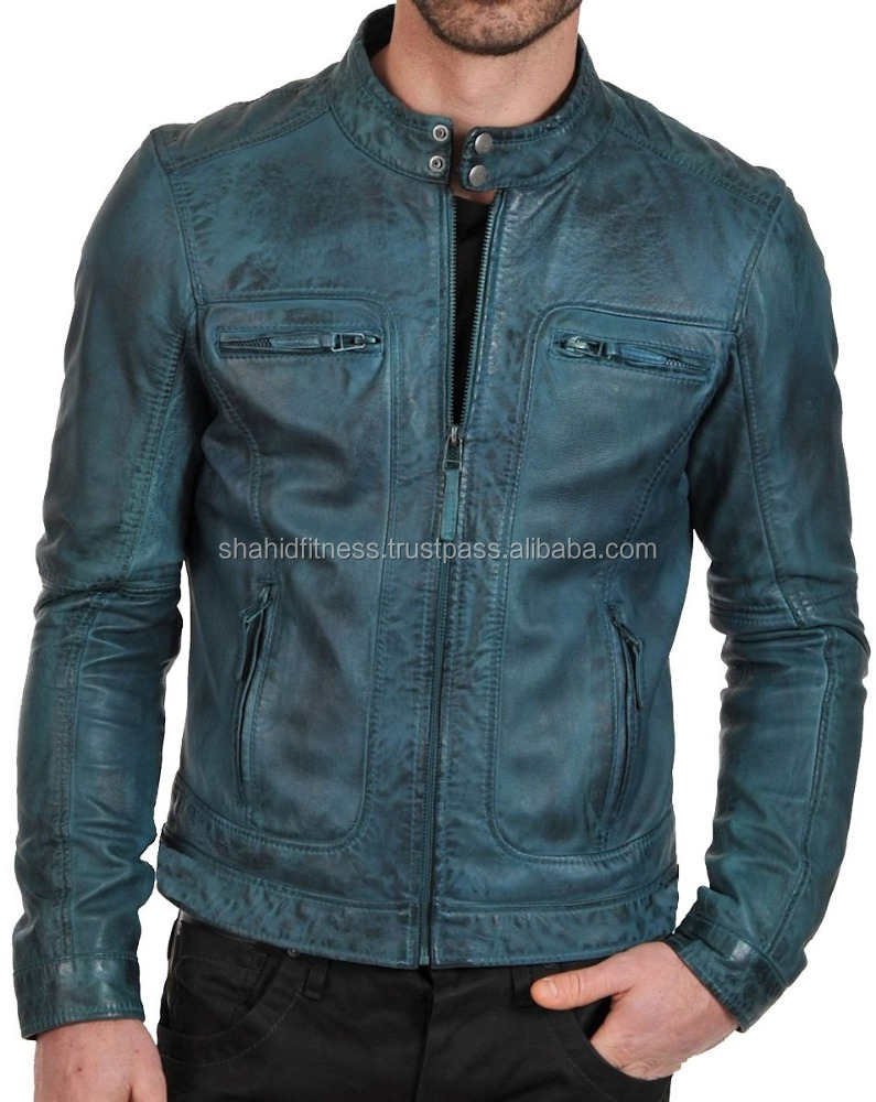 Genuine Leather short Jacket For Man wholesale 2017 good quality short leather men's coat&OEM