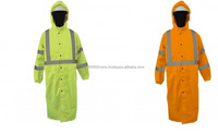 Long Raincoat with Safety Hi-Vis