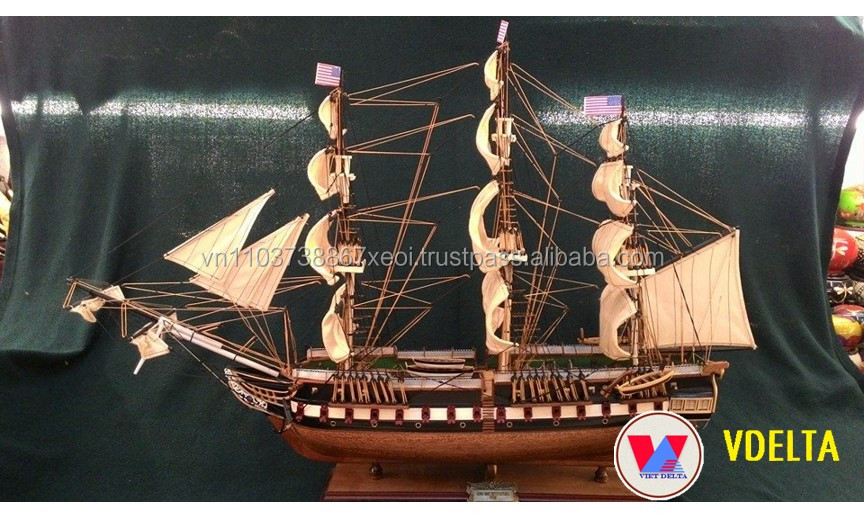 USS CONSTITUTION 1797/ WOODEN BOAT MODEL USS CONSTITUTION - Handmade, For Decoration - Unique Design - Hot for sale