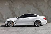 Black Series Body Kit for C-class W204 coupe.