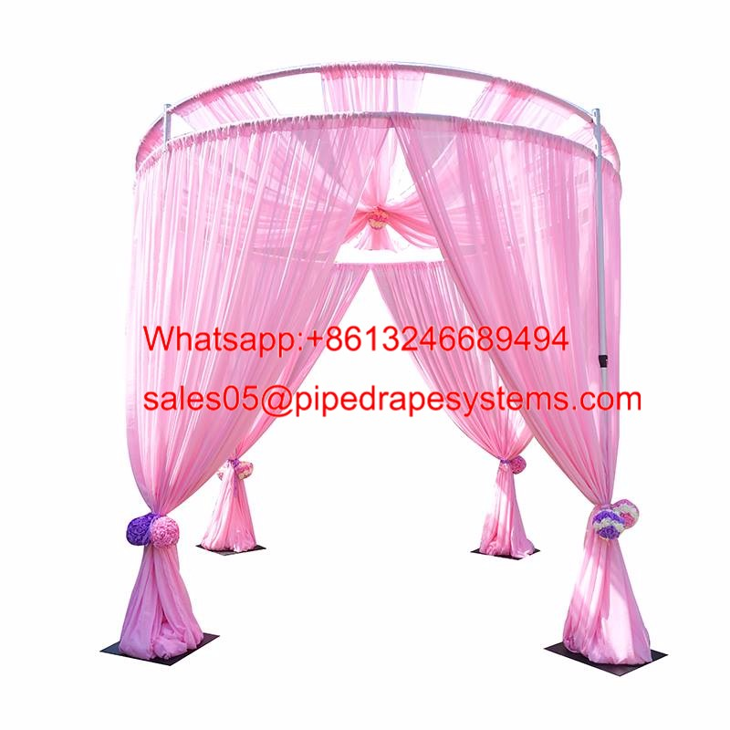 Best pipe & drape road case custom trade show exhibitions booth Led star curtain in wedding sup