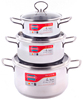 SUNHOUSE SH888 HIGH QUALITY 3-PLY BOTTOM STAINLESS STEEL COOKWARE SET 3 PCS (16/20/24CM)