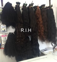 Indian Natural raw temple hair no chemical processed unprocessed virgin 100 human hair