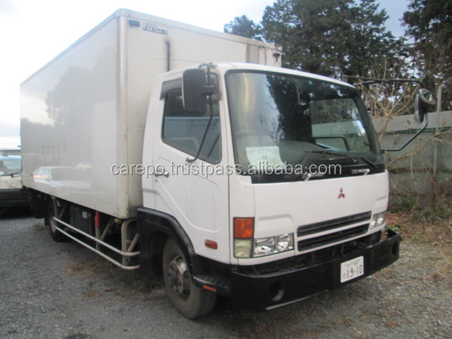 JAPAN USED VEHICLES RIGHT HAND DRIVE FOR MITSUBISHI FIGHTER WITH REFRIGERATOR & FREEZER KK-FK71HH 6M61 MT F6 DIESEL 2000