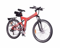 Buy 5 Get 3 Free NEW!! 2015 X-Treme X-Cursion Folding Electric Bike - Lithium Powered - Red