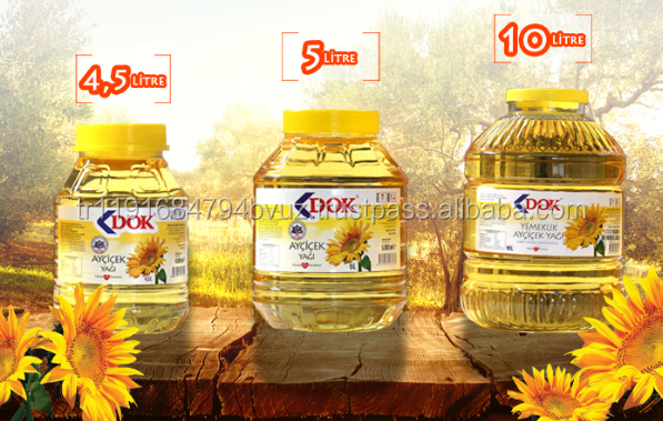 Premium quality 4 lt plastic jar Refined Cooking %100 Sunflower seed oil