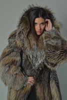 Luxury gift/ Full Length Crystal Fox Fur Coat/Fur jacket / Wedding,or anniversary present