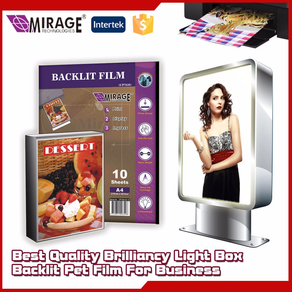 Glossy Surface Backlit Film Printing Prices