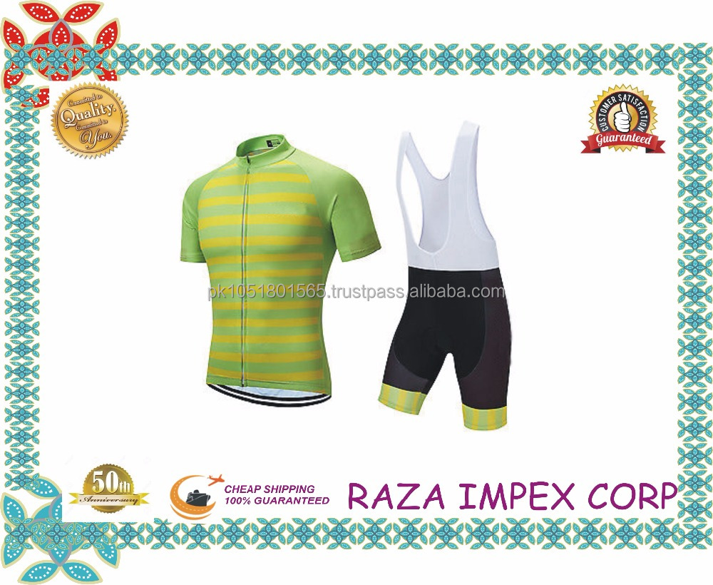 Anti-bacterial Polyester Fabric Race Cut Sublimation Cycling Jersey