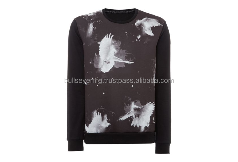 Regular Fit Dove Print Crew Neck Sweatshirt