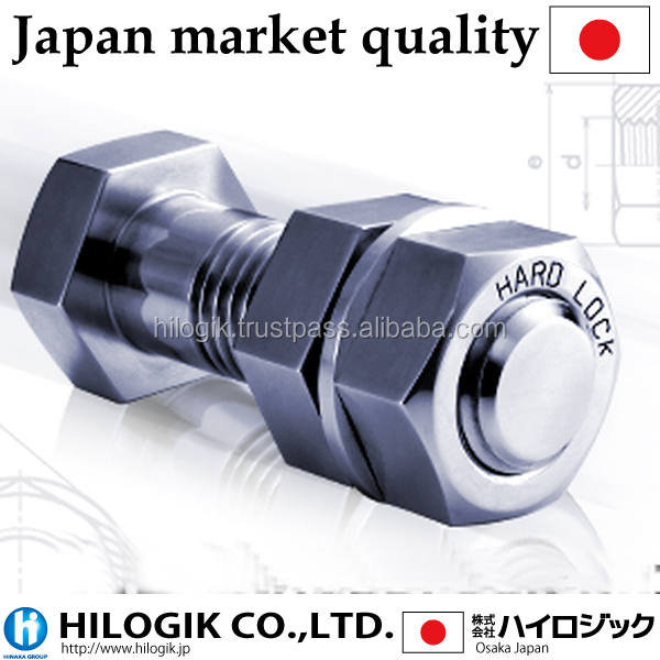 japanese bolts nuts high quality strong hardlock nut recognized by the world, construction equipment made in Japan