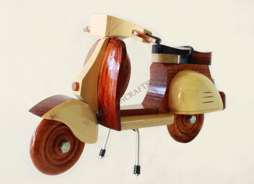 VESPA WOODEN MODEL SCOOTER WOOD ART CRAFT MINIATURE WOOD CRAFTS