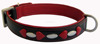 Sheepskin Napa soft Leather Dog Collar With Oval and Heart shaped Clinchers