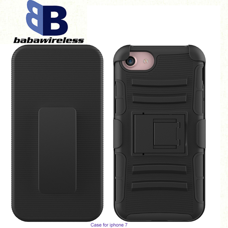 3 in 1TPU Combo Case For iPhone 7 holster with Belt Clip Holster waterproof phone case