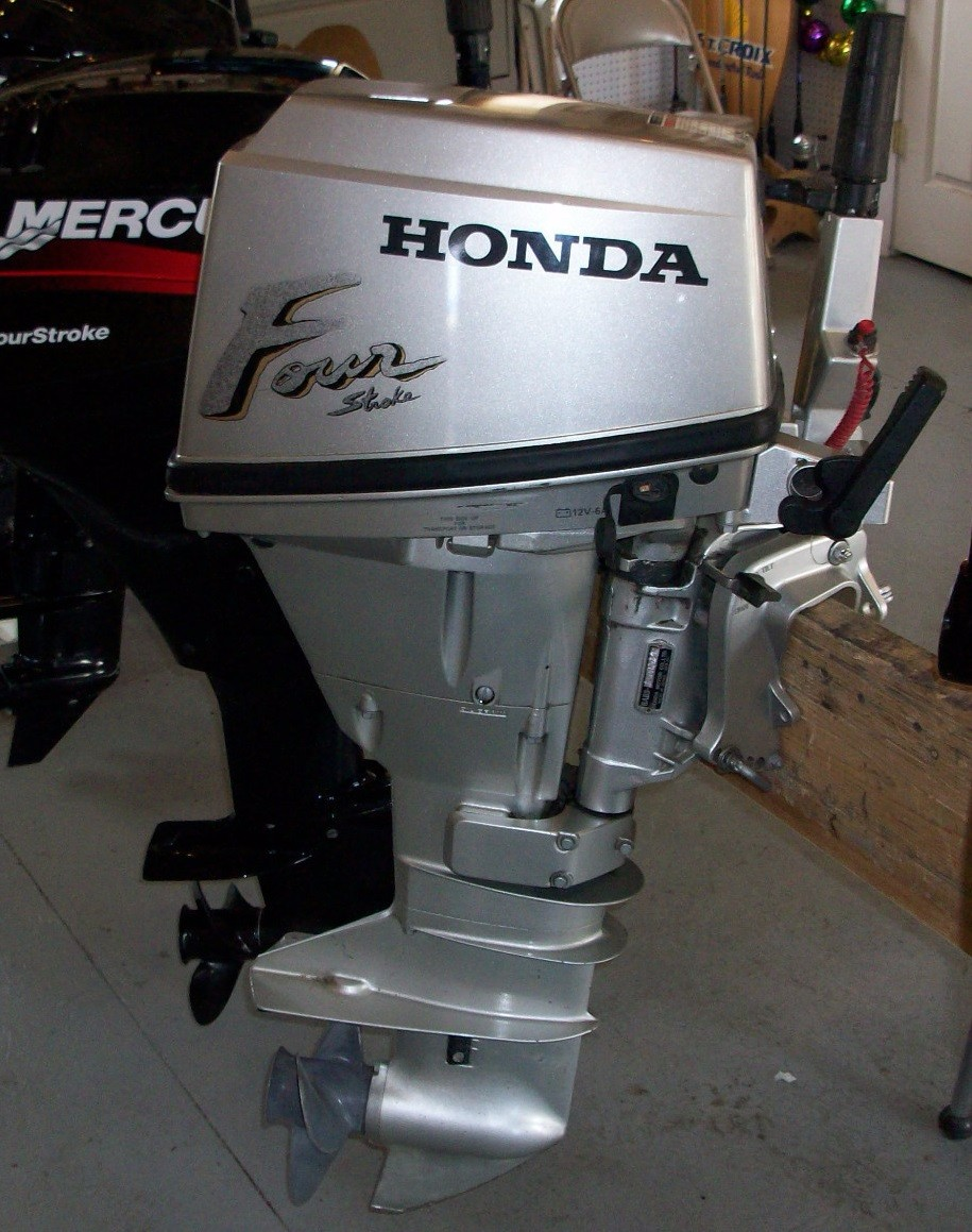 Used Honda 15 HP 4-Stroke Outboard Motor Engine