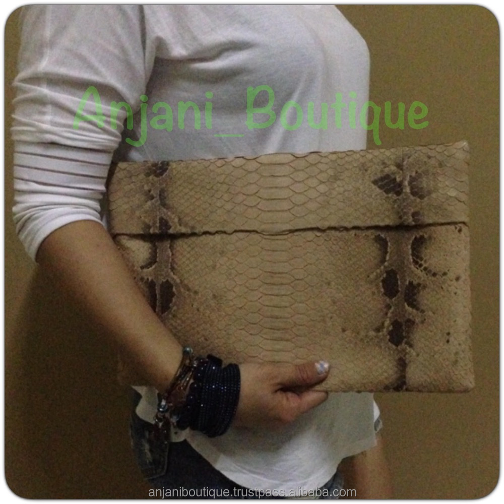 Special Customize Python Handbag Ladies Clutch Bag