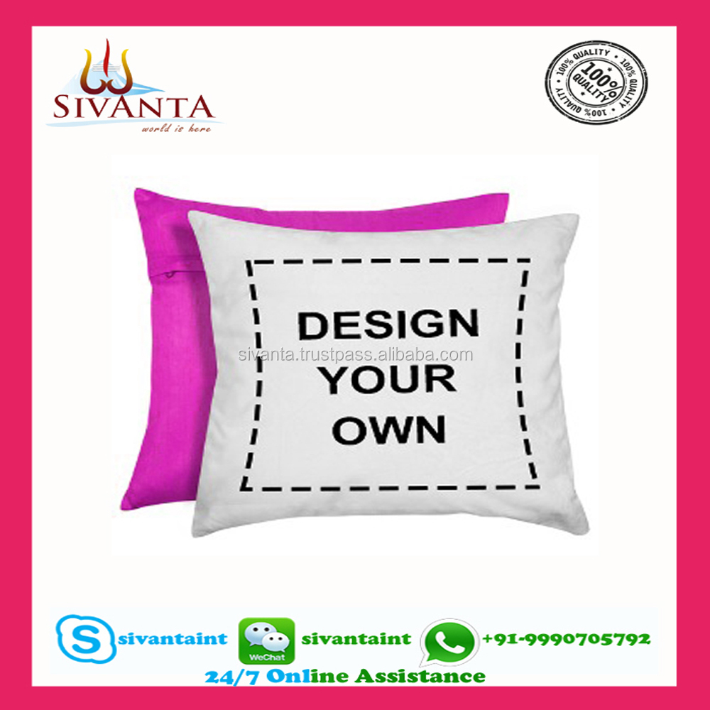 Custom Pillow Digital Print 100% digital print cushion cover - Made in india