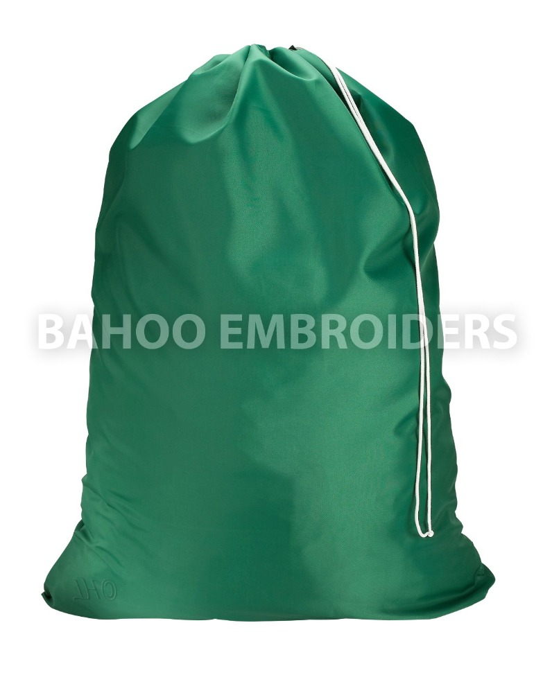 Commercial Heavy Duty Jumbo Sized Nylon Laundry Bag | Green