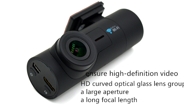 2.4G WiFI dash camera 360 degree rotate full HD 1080P AMBA car DVR with 3D G-sensor