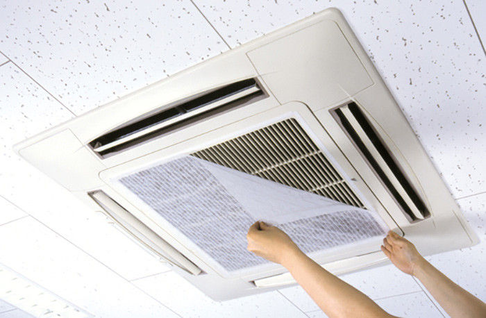 how to clean an ac air filter