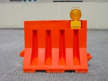 PLASTIC SAFETY ROAD BARRIER RED COLOR